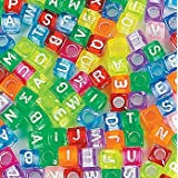Fun Express Bright Alphabet Cube Beads Craft - 260 Pieces