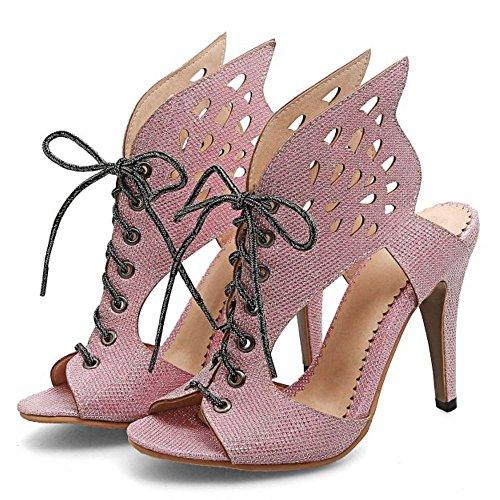 Tacon Zapatos Sandalias Mujer Coolcept Pink Alto 5Bn0qxZp