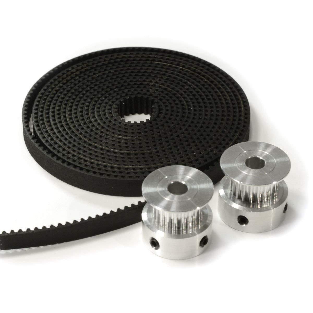 10mm Largeur pour CNC 3D Printer Reprap Prusa BAAQII 2M 10mm GT2 Courroie de Distribution Ouverte 6