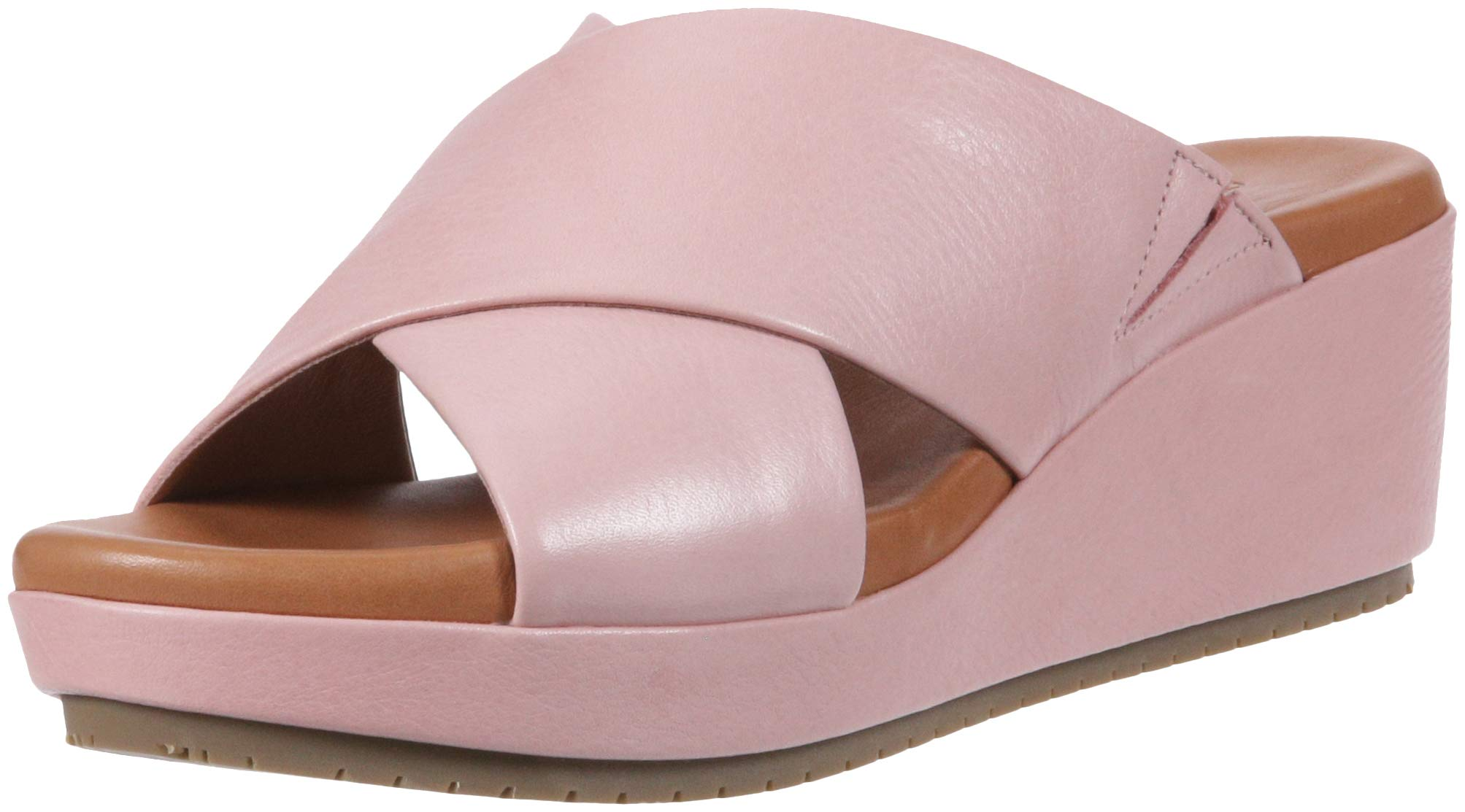 Gentle Souls by Kenneth Cole Women's Mikenzie Platform X-Band Slide Sandal Sandal, rose, 7 M US