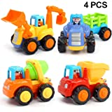 ORWINE Inertia Toy Early Educational Toddler Baby Toy Friction Powered Cars Push and Go Cars Tractor Bulldozer Dumper…