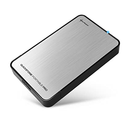 Sharkoon QuickStore Portable Pro - Carcasa Externa de Disco Duro, USB 3.0, Plata