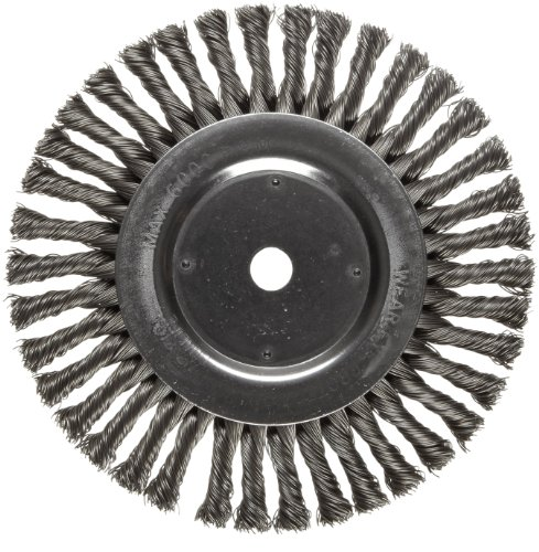 Weiler Dualife Wire Wheel Brush, Round Hole, Steel, Full Twist Knotted, 8
