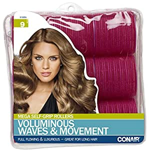 Conair Mega Self Holding Rollers, 9 Count