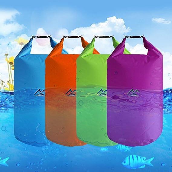 Bolso Impermeable seco al Aire Libre Saco de Bolsa Seca de 10L Bolsas de Equipo seco flotantes Impermeables para canotaje Pesca Rafting Nataci/ón DFHJSXD