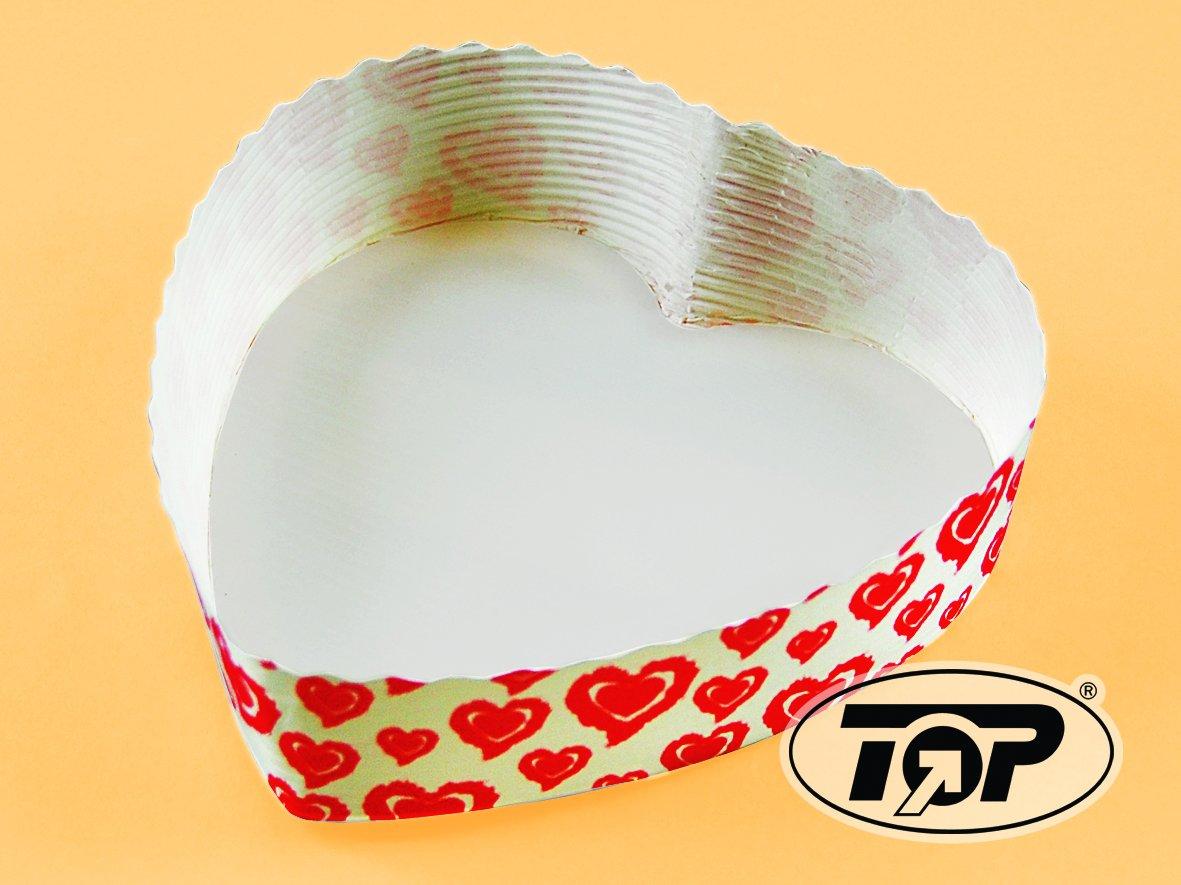 300 Einwegbackformen Papierbackformen Profi wei/ß Herz Herzmotiv Herzform 13,5cm x 3,5cm f/ür Valentinstag Hochzeiten usw.