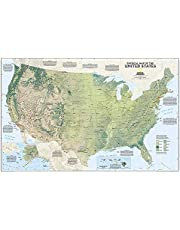 United States Physical: Wall Maps U.s.