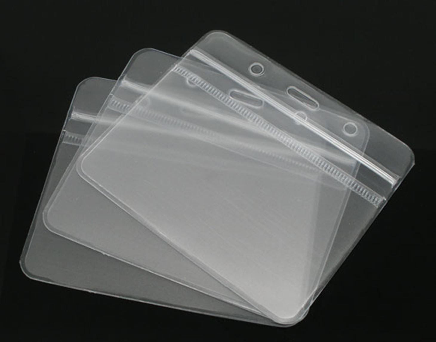 Puissant 8 40 Horizontal Fermeture zippée étanche 10 cm x 8 Puissant cm-Carte d'identité/Badge/porte-Photo pochettes pour les visiteurs et vos invités. 0e9582