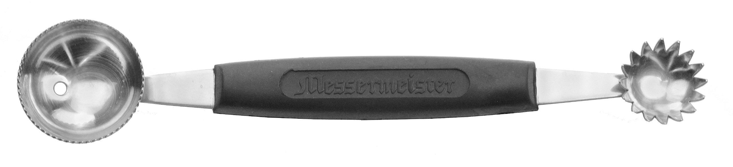 Messermeister Double-Ended Melon Baller, Serrated 30mm/Tomato Shark