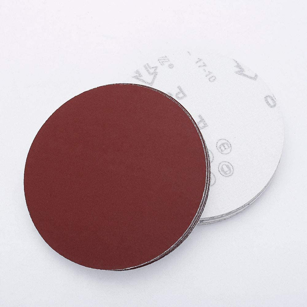 FQD&BNM Sandpaper 100pcs 5 Inch 125mm Round Sandpaper Disk Sand Sheets Grit 40-2000 for Choose Hook and Loop Sanding Disc for Sander Grits,Grit 60 Grit 40
