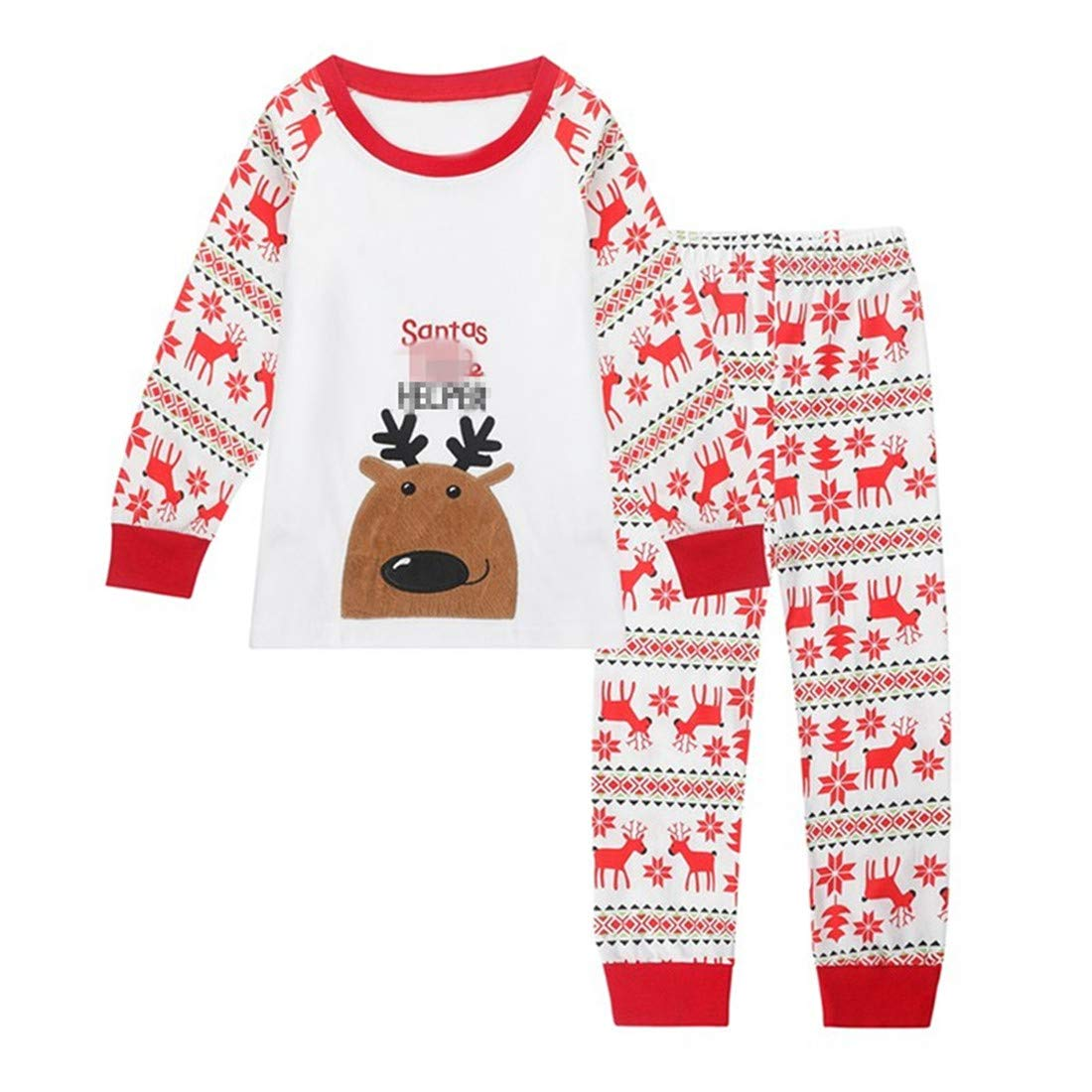 Tkala Fashion Christmas Boys Pajamas Children Clothes Set 100% Cotton Little Kids Pjs Sleepwear