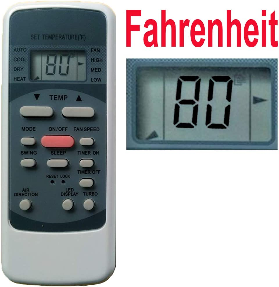 Home Appliances Inc Of ShenZhen Replacement for Air Conditioner Remote Control Model Number RG51M5/EU RG51M5/(C) EU RG51M1/EU1 RG51I11/BGEU (Display in Fahrenheit!)