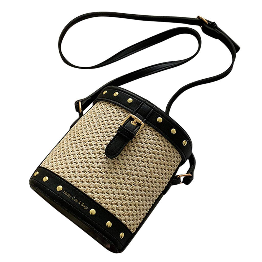 df6bb885dc68 Shoulder Bags JIUDASG Woman Weave Ladies Retro Countryside Leisure ...