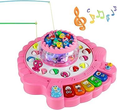 Juegos de Pesca,Piano Infantil Juguete, Juegos de Mesa para Niños 4 5 6 7 Años: Amazon.es: Juguetes y juegos