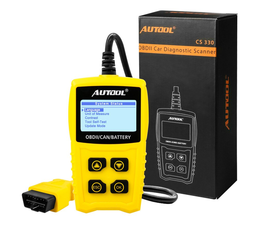 AUTOOL OBD2/EOBD Code Reader, CS330 Automative Diagnostic Code Scanner with Voltage Meter Car Engine Fault Code Reader with I/M Readiness for CAN OBD 12V SUV/Car/Van by AUTOOL (Image #7)