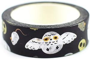 Halloween Snowy Owl Pattern Washi Tape
