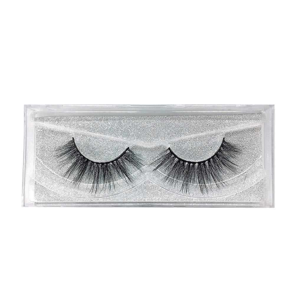 HJuyYuah Luxury 1 Paire False Lashes Fluffy Strip Eyelashes Long Natural Party Makeup Las