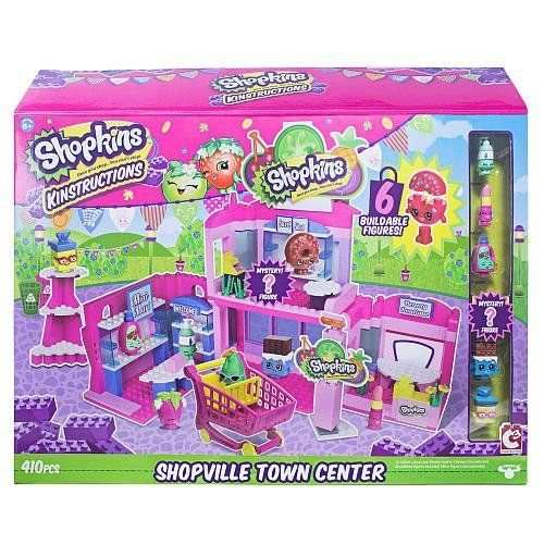 Qiyun Shopkins Kinstructions Shopville Town Center Deluxe Set