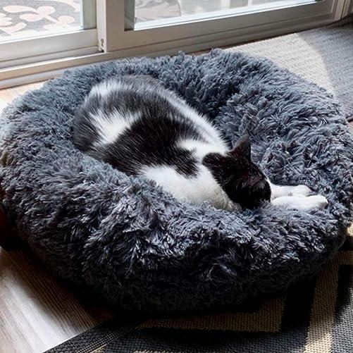 FANCYDELI Orthopedic Dog Bed Comfortable Donut Cuddler Round Cat Bed 20 24 28 39
