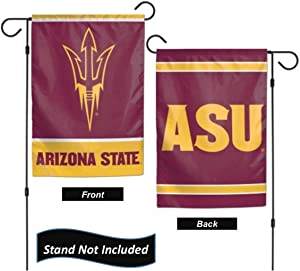 "Arizona State Sun Devils 12.5"" x 18"" Double Sided Yard and Garden College Banner Flag is Printed in The USA,"