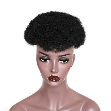 ZigZag Hair Brazilian Human Hair Mens Toupee Afro Curly Short Hair Men s  Wig 8x10inch Men s Hair cb93eff16