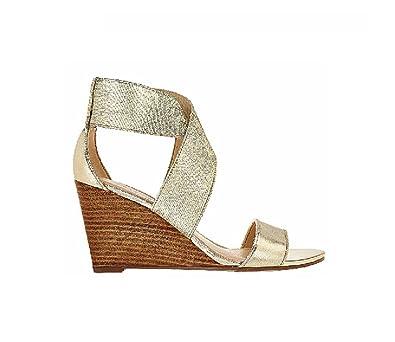 9194bd6af3d Image Unavailable. Image not available for. Color  Marc Fisher Cecila Women  US 9.5 Gold Sandals