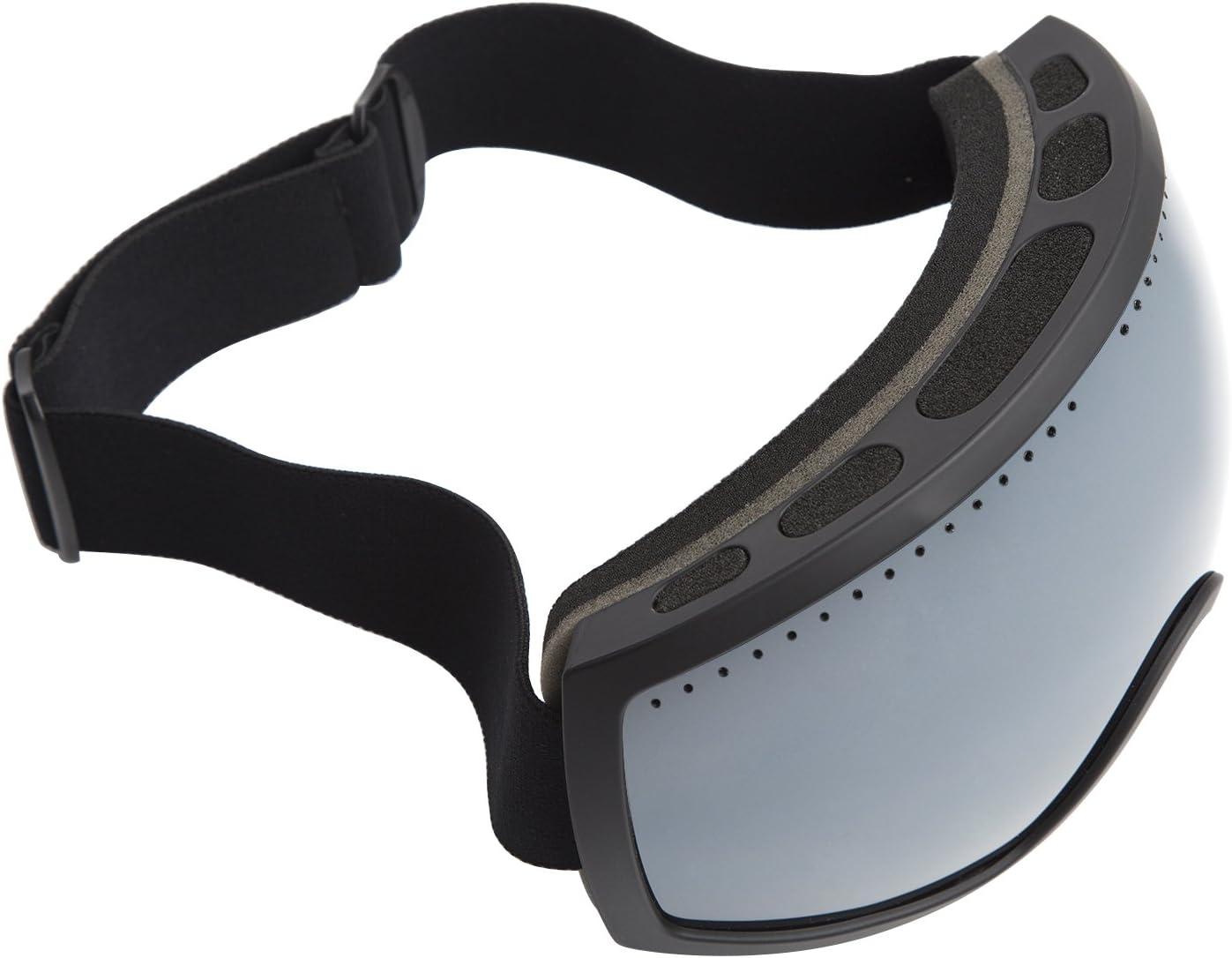 ABG Accessories Adult Ski Goggles Anti-Fog Ca and Pc Double Lens Snowboard Black TPU Matt Frame