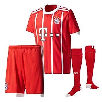 buy popular 84abe 5516a Bayern Munich 2017 18 Kid Youth REPLICA Jersey Kit (Shirt ...