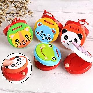 Steellwingsf Cartoon Rana Panda Animale Bambino Bambini in Legno educazione precoce Musical Giocattoli nacchere Giocattolo Natale Regalo Random Color