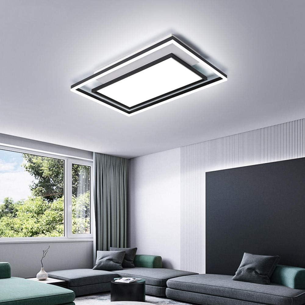 Plafones led techo salon lamparas techo Lámpara de techo moderna de hierro forjado comedor dormitorio estudio-lámpara de tres colores light_90 * 60 * 7cm-72W