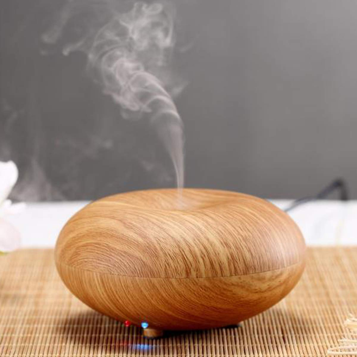 Aromatherapy Oils Diffuser, 150ml Wood Grain Ultrasonic Aroma fragrance Diffuser with Auto Shut-off Function, Warm night Light, Cool Mist Humidifier BPA-Free for Home, Office, Bedroom Room