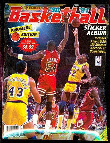 1990-91 Panini Sticker Card Basketball Complete Set Album FACTORY SEAL '90 1991