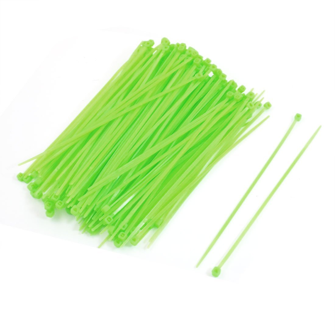 Uxcell Nylon Adjustable Self Locking Cable Zip Tie 2.5 x 150 mm Green 200 Piece