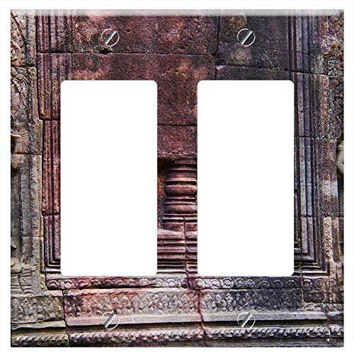 Switch Plate Double Rocker/GFCI - Ta Som Temple Temple Travel Antique Old Beautiful 2 (Ta Som)