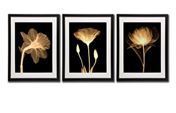 Amazoncom Black White And Gold Wall Art Canvas Prints Decor