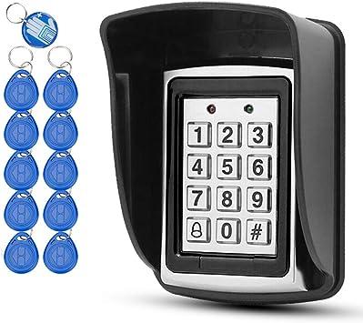 OBO HANDS 10 RFID-Llaveros + Cubierta Impermeable de la Lluvia + Teclado del Metal del RFID Apoya 1000 Usuarios Interfaz Wiegand-26 (Entrada/Salida)