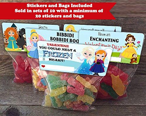f2d4a03c4718 Amazon.com  Princess Valentine Treat Bags and Stickers
