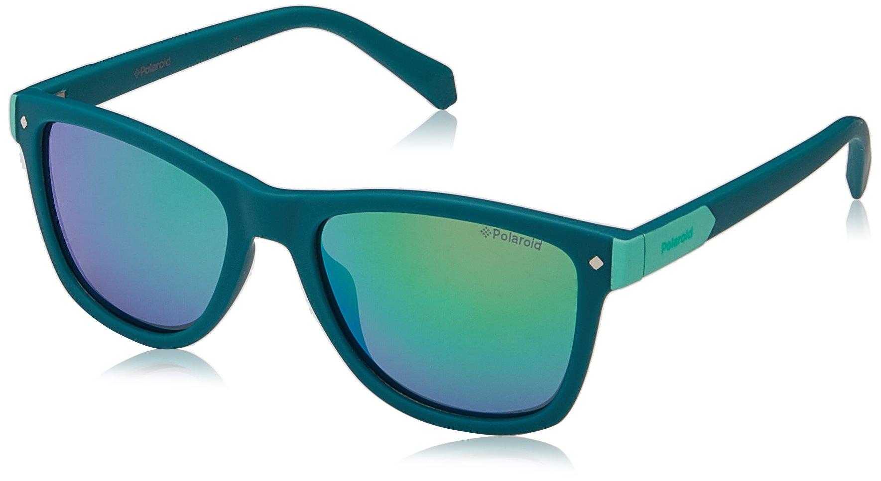 Polaroid Sunglasses Girls' Pld8025s Polarized Rectangular Sunglasses, Green, 48 mm