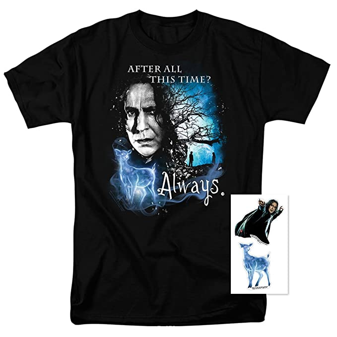 9f9dcfc89 Popfunk Harry Potter Professor Snape Always T Shirt & Stickers (Small) Black