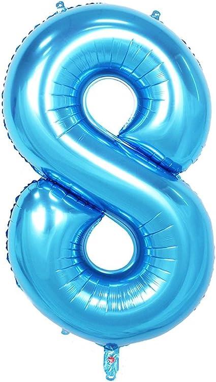 "1x 40/"" Blue Boys Foil Number Balloon Birthday Party Decoration Mylar Mens Decor"