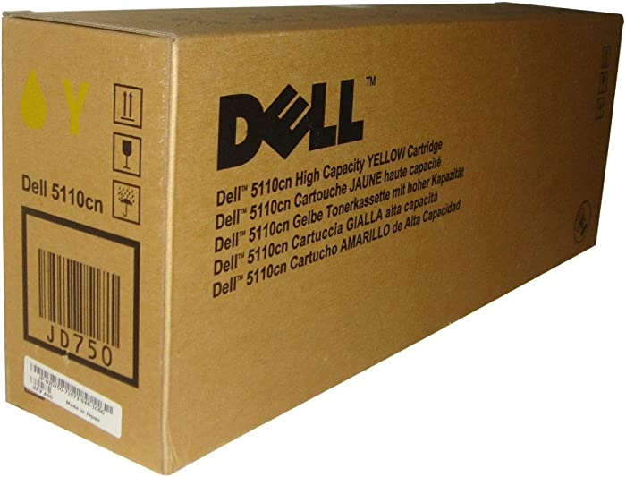 Dell JD750 5110 Toner Cartridge (Yellow) in Retail Packaging