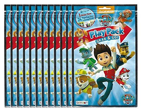 Paw Patrol BashBox Play Pack Grab & Go Children's Coloring & Activity Party Favor Bundle (8 -