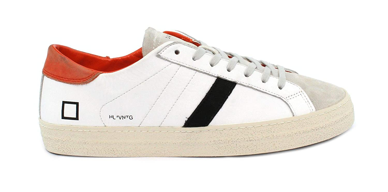 Acquista D.A.T.E. Sneaker Hill Low Vintage Calf White-Orange miglior prezzo offerta