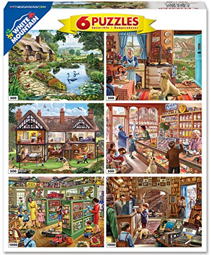 White Mountain Puzzles 6-in-1 Steve Crisp Collection - 3600 Piece Jigsaw - Store Hours Lakeside