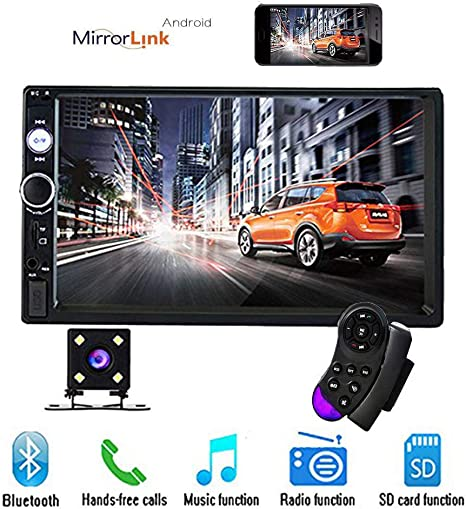 Only Used in Android Camecho Bluetooth 2 Din 7 HD Car Stereo 7010B Radio Support Front USB//TF Port FM Aux Input Autoradio MP5 Multimedia Play with Backup Camera Support Mobile Phone Synchronization