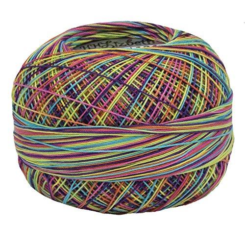 (Lizbeth Size 80 HH80 Lizbeth Cotton Thread 184 yds 10 Grams, Rainbow Splash)