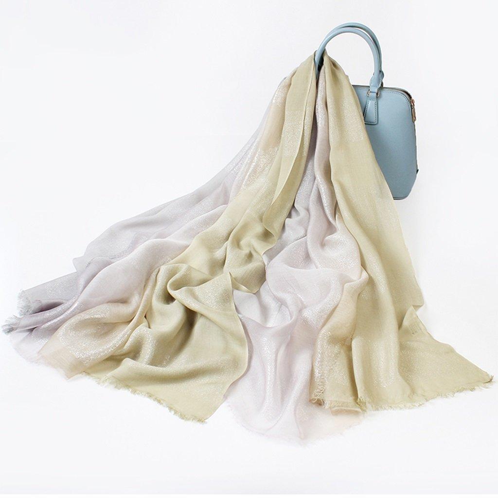 Bufanda moda fresca y elegante gris femenina larga personalidad luz primavera e invierno chal doble uso gradiente 190 cm de largo (74.5 pulgadas) x 105 cm de ancho (41 pulgadas) ( Color : 3# )