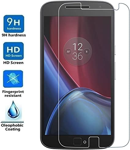 REY Protector de Pantalla para Motorola Moto G4 Plus 4th, Cristal Vidrio Templado Premium: Amazon.es: Electrónica