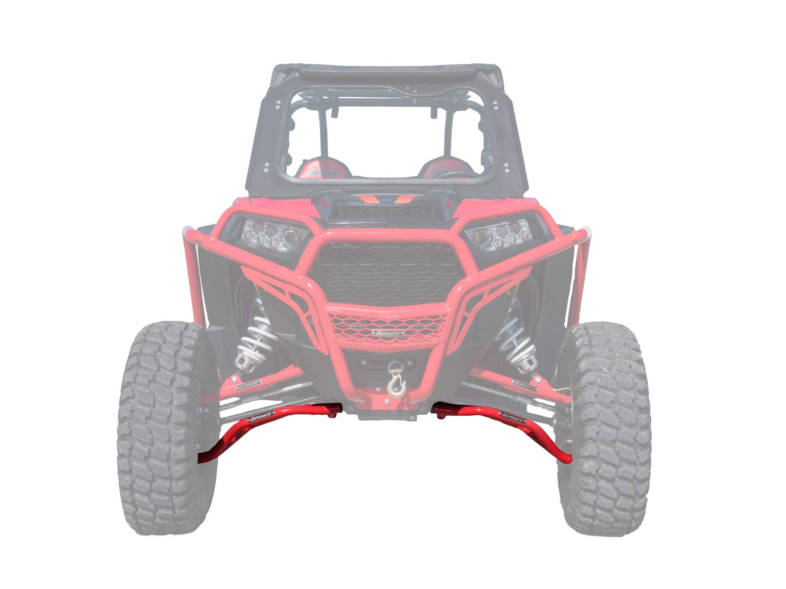 SuperATV High Clearance Lower A Arms for Polaris RZR XP 1000/XP 4 1000 (2014+) - LOWER Arm - Red