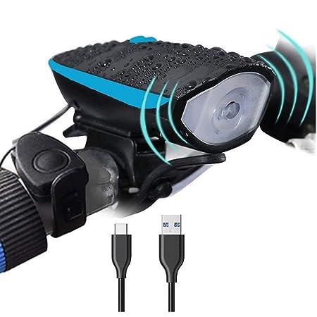 DFRgj Luz de Bicicleta Set USB Recargable Luz de Bicicleta Luz ...